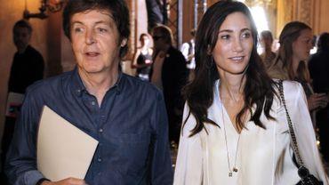 Paul McCartney en compagnie de Nancy Shevell