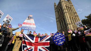 Manifestation en faveur d'un référendum juste avant le vote