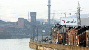 Le site d'Arcelor (ex-Cockerill) à Seraing et Ougrée