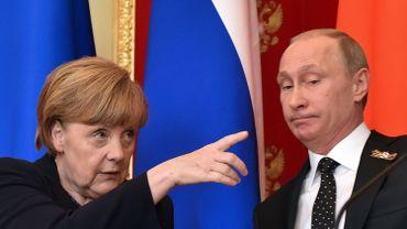 Merkel rencontre Poutine à Moscou pour souligner l'importance des accords de Minsk