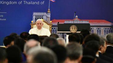 Le pape François à Bangkok, le 21 novembre 2019