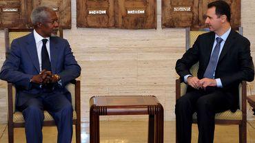 """Syrie: Kofi Annan a eu une discussion """"constructive"""" avec le président Assad"""
