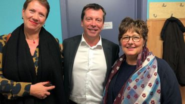 Le bourgmestre Frédéric Daerden avec les échevines Bojena visic et Denise Bohet
