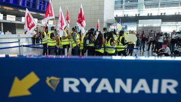 Une image du 12 septembre dernier à Francfort lors de la grève du personnel allemand de Ryanair.