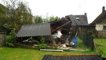 Tempête du 29 avril à Bauche (Yvoir).