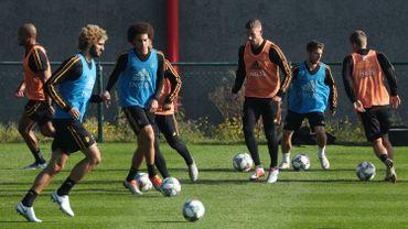 Marouane Fellaini de retour à l'entraînement des Diables rouges