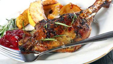 Recette : Magret de canard, pommes Ariane rôties au thym