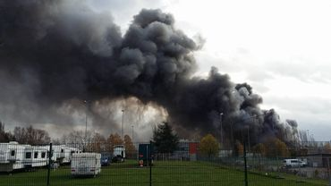 Incendie à l'usine Milcamps