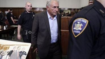 Dominique Strauss-Kahn lors d'une des comparutions