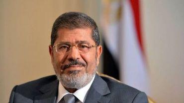 Le président égyptien Mohamed Morsi pose le 8 juillet 2012 au Caire