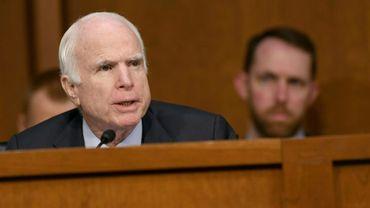Le républicain John McCain au Sénat le 13 juin 2017, à Washington