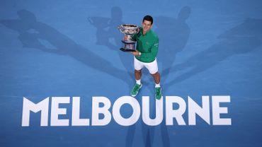 Novak Djokovic, vainqueur de l'Australian Open en 2020
