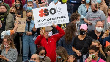 Le secteur culturel a manifesté son mécontentement le 6 septembre à Bruxelles.