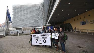 Manifestation contre le glyphosate en novembre 2017