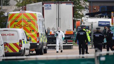 Le camion où ont été trouvés les 39 corps