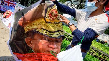 Le commandant en chef de la junte Min Aung Hlaing.