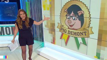 """Carles Puigdemont part en guerre contre le jambon """"Pig Demont"""""""