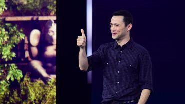 L'acteur américain Joseph Gordon-Levitt lors de la présentation d'Ubisoft à l'E3, le 11 juin