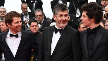 """Pierre Deladonchamps, le réalisateur Christophe Honore et Vincent Lacoste à la projection de """"Plaire, aimer et courir vite"""""""