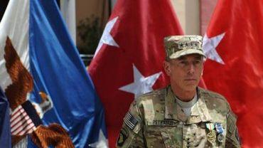 Le général David Petraeus à Kaboul, le 8 juillet 2011 en Afghanistan