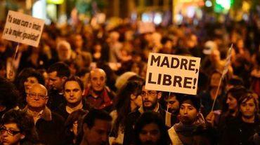 Manifestation pour les droits des femmes à Madrid le 8 mars 2014
