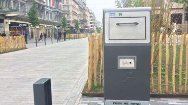 Nouvelles poubelles photovoltaïques sur le piétonnier bruxellois