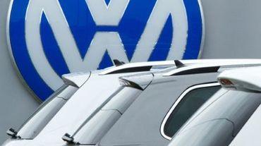 Le logo Volkswagen chez un garagiste à Woodbrige en Virginie du nord le 29 septembre 2015