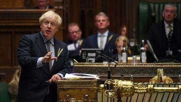 Le Premier ministre britannique Boris Johnson devant la Chambre des Communes, le 9 septembre 2020