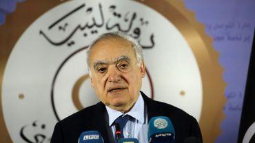 L'émissaire de l'ONU pour la Libye, Ghassan Salamé, le 6 avril 2019 lors d'une conférence de presse à Tripoli.