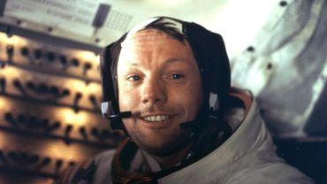 Neil Armstrong à bord du module lunaire d'Apollo 11 le 21 juillet 1969