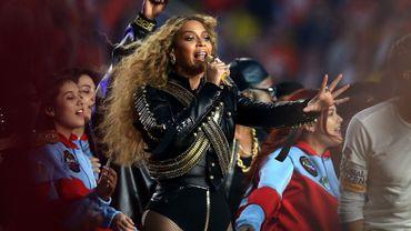 Beyoncé pendant le Super Bowl, en février 2016