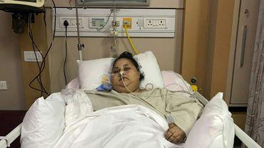 L'Égyptienne Eman Ahmed Abd El Aty, sur une photo fournie le 9 mars 2017 par l'hôpital Saifee à Bombay