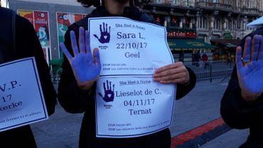 Le 25 novembre 2019, lors d'une manifestation pour les victimes de féminicide en Belgique
