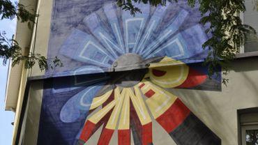 Yvon Tordoir (Aerosol Kings) signe cette fresque en hommage à Panamarenko