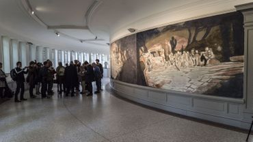 Inauguration d'une gigantesque fresque de Luc Tuymans au Musée des Beaux-Arts de Gand