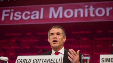 Photo fournie par le FMI de Carlo Cottarelli,  le 16 avril 2013 à Washington