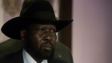 Le président sud-soudanais Salva Kiir lors d'une conférence de presse le 8 juillet 2016 à Juba.
