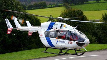 L'hélicoptère médicalisé d'urgence de Bra-sur-Lienne.
