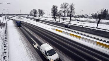 Autoroute A 12 (Anvers-Boom-Laeken) près de Bruxelles, ce lundi