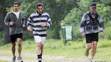 Après l'Elysée, Nicolas Sarkozy fait du jogging avec ses gardes du corps