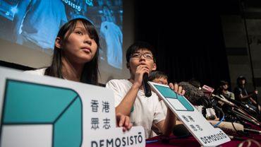 Hong Kong: les militants Joshua Wong et Agnes Chow libérés sous caution