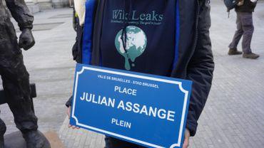 Journée de la presse: manifestation pour Julien Assange à Bruxelles