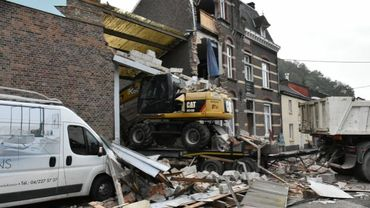 Maison fortement endommagée par un camion à Visé