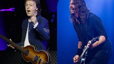 Paul McCartney avec les Foo Fighters