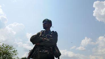 Un membre des Forces armées de la République démocratique du Congo (FARDC) photographié le 19 août dernier à Beni, dans le nord-est du Congo.