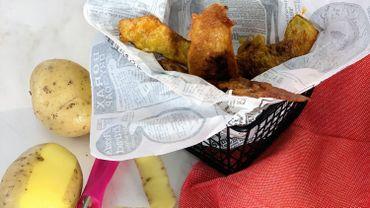"""La Cuisine de Leslie - Chips de restes d'un """"Poulet-Frites"""""""