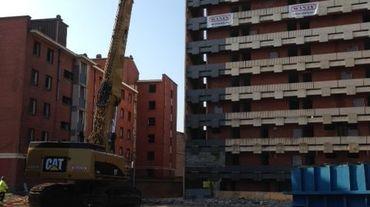 Début de la démolition de la Tour Apollo à Charleroi