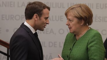 Macron et Merkel le 9 mai dernier