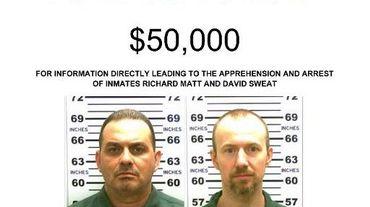 Avis de recherche des deux détenus évadés de la prison de Dannemora, dans l'Etat de New York, dans la nuit du 5 au 6 juin 2015