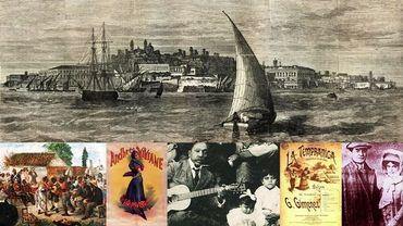 """Jai vu le Monte de Montevideo"" (XIXe siècle) / Candombe en Uryguay / Andrhrée Viviane / Gabino Ezeiza / La Tempranica (zarzuela) / Les Gobbi (vers 1900)"